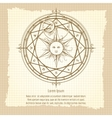Vintage alchemy magic circle vector image