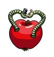 Worms wedding vector image