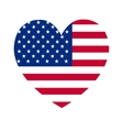 heart of America flag vector image
