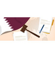 Qatar law constitution legal judgment justice vector image