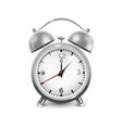 retro alarm clock in metal housing vector image
