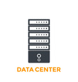 server data center icon vector image