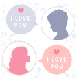 love chat vector image vector image