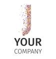 Alphabet particles logotype Letter-J vector image
