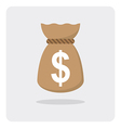 flat icon money bag vector image