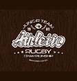Rugby emblem with shabby vector image
