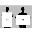 people holding blank posters set vector image