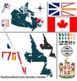 Map of Newfoundland and Labrador vector image