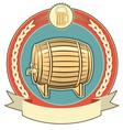 beer barrel label vector image vector image