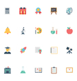 Flat Education Icons 2 vector image