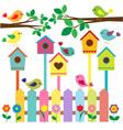 Birdhouses vector image
