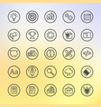 flat line set icon graphic vector image