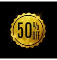 Golden Sale Label vector image