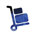Luggage trolley icon Abstract Triangle vector image