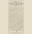 lunar calendar gmt vector image
