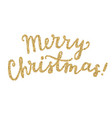 merry christmas calligraphy gold glitter vector image
