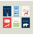 Set of greeting cards for Christmas and New Year vector image