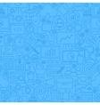 SEO Blue Line Seamless Pattern vector image
