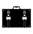 Suitcase old retro vintage icon stock vector image