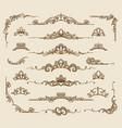 royal victorian filigree design elements vector image