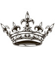 graphic black and white king crown vector image