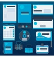 Blue corporate identity template vector image vector image