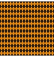 Seamless texture of rhombuses Black and orange vector image