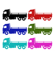 truck on white background vector image