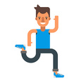 Running man Flat isolated on white background vector image