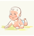 Baby cute child happy kid vector image