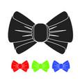 black bow icon vector image