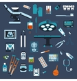 Dentistry surgery and medical checkup flat icons vector image