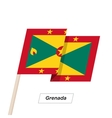 Grenada Ribbon Waving Flag Isolated on White vector image