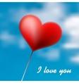 Love Heart Balloon in Blue Sky EPS10 vector image