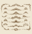 royal victorian filigree design elements vector image