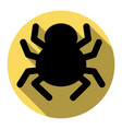 spider sign flat black icon vector image