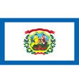 West Virginia flag vector image