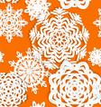 Applique snowflake Christmas seamless background vector image