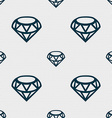Diamond Icon sign Seamless pattern with geometric vector image