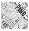 Ping Golf Word Cloud Concept vector image
