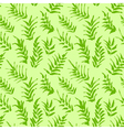 Ink seamless pattern with palm leaves in green vector image vector image