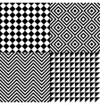 seamless abstract pattern set vector image