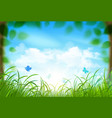 Spring landscape with clouds vector image