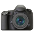front dslr vector image vector image