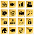 web and internet icons vector image vector image