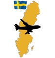 fly me to the Sweden vector image
