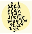 alphabet of ink hand lettering letters vector image
