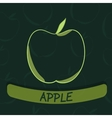 Apple Flavour Seal on Green Seamless Background vector image
