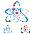 atom symbol set isolated vector image