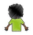 back black child character vector image